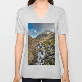 Tryfan and Ogwen Falls Unisex V-Neck