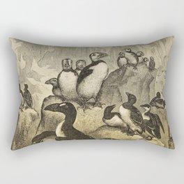 Naturalist Penguin And Puffin Rectangular Pillow
