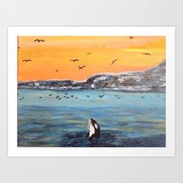 Flipper the Orca Art Print