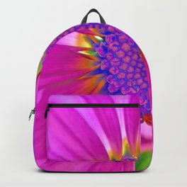 Neon Pink Daisy Backpack