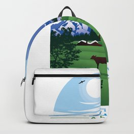 French Alpes Art Backpack