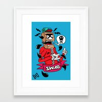 swag Framed Art Prints featuring SWAG by reda el mraki