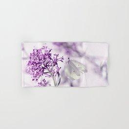Butterfly macro white 55 Hand & Bath Towel