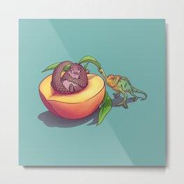 Peach-a-boo! Metal Print