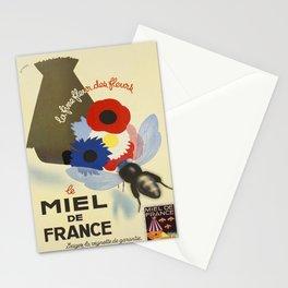 vintage poster le miel de france la fine fleur des Stationery Cards