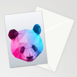 Polygon Panda Bear Stationery Cards