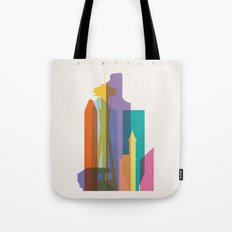 Shapes of Seattle accurate to scale Tote Bag