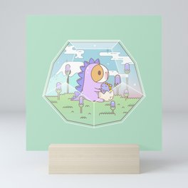 Bubu the Guinea pig, Dino Terrarium Mini Art Print