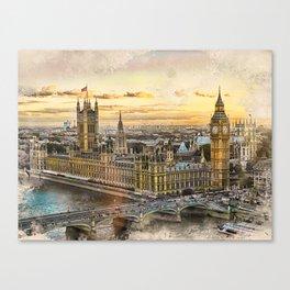 London city art 3 #london #city Canvas Print