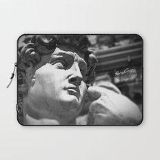 the David's face, Florence Tuscany Laptop Sleeve