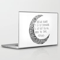kerouac Laptop & iPad Skins featuring Kerouac Mandala Moon by Narts and Crafts