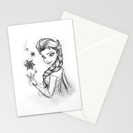 Queen Of Ice And Snow Stationery Cards