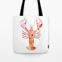lobster Tote Bags featuring Lobster by fossilized