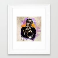 louis armstrong Framed Art Prints featuring Louis Armstrong by Philipe Kling