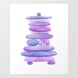 Lavender Stack Art Print