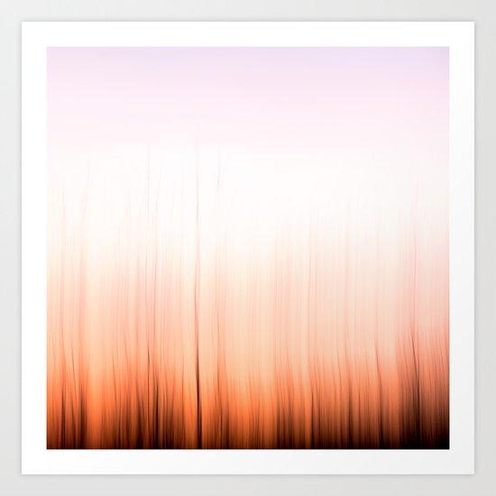 Sunset Flames Art Print