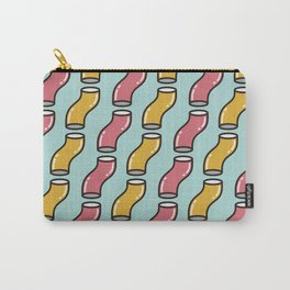 Curved cylinder pattern. Carry-All Pouch