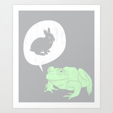 Frogs Say Art Print