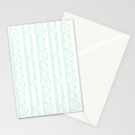 Mint Cream Stripes & SemiCircles Stationery Cards