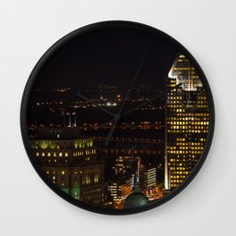 Montreal skyline in Quebec, Canada Wall Clock