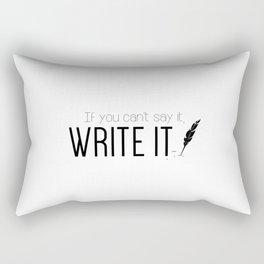 Writing urges #2 Rectangular Pillow