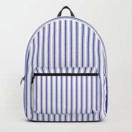 Small Australian Flag Blue on White Mattress Ticking Stripes Backpack