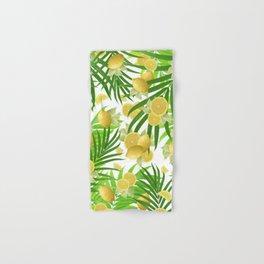 Summer Lemon Twist Jungle #2 #tropical #decor #art #society6 Hand & Bath Towel