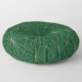 Art Deco in Gold & Green Floor Pillow