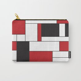 Geometric Abstract - Rectangulars Colored Carry-All Pouch