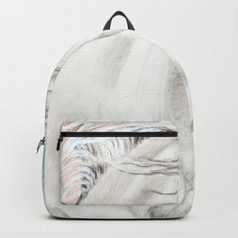 Andalusian Horse Blue Backpack