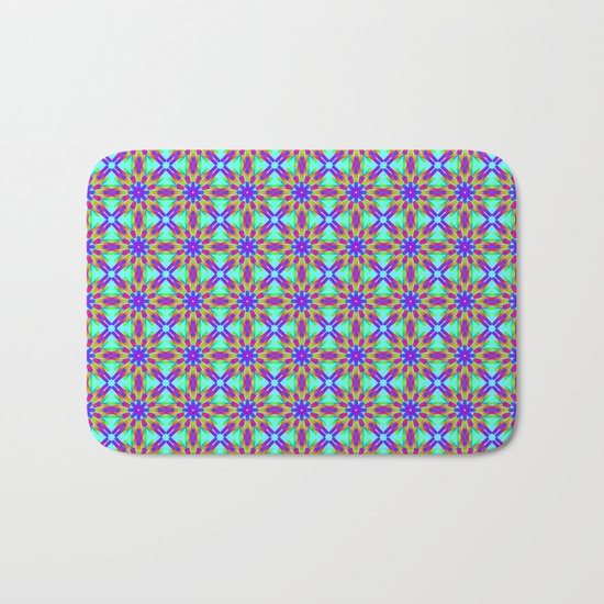Tribal patterns in rainbow colors Bath Mat