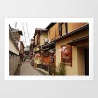 Old Houses in Kyoto Art Print