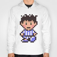 earthbound Hoodies featuring Ness (Pajamas) - Earthbound / Mother 2 by Studio Momo╰༼ ಠ益ಠ ༽