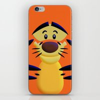 cartoons iPhone & iPod Skins featuring Cute Orange Cartoons Tiger Apple iPhone 4 4s 5 5s 5c, ipod, ipad, pillow case and tshirt by Three Second