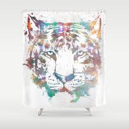 Mushin - Cosmic Tiger Shower Curtain