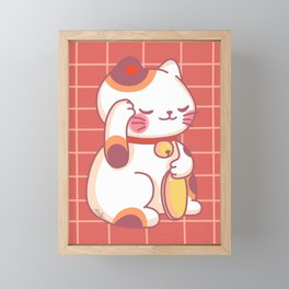 Maneki-Neko Framed Mini Art Print