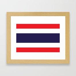 flag of thailand 2 -thailand,Siam,thai,siamese,bangkok. Framed Art Print