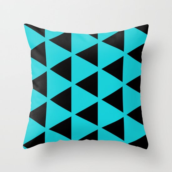 Sleyer Black on Blue Pattern Throw Pillow