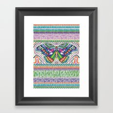 Tribal Butterfly Framed Art Print