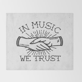 In Music We Trust Throw Blanket