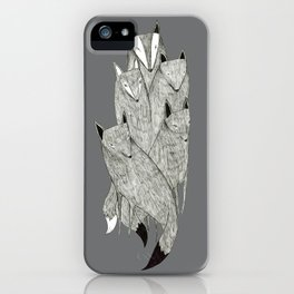 Foxes & Badgers iPhone Case