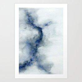Indigo Abstract Painting | No.3 Art Print
