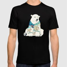 Polar Bear Black MEDIUM Mens Fitted Tee