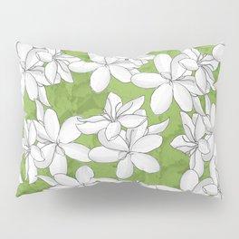 White flowers Greenery Pillow Sham