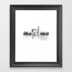 castle by the lake  Framed Art Print