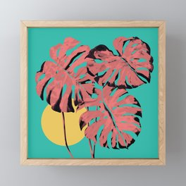 Flamingo Monstera Framed Mini Art Print