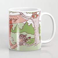 sasquatch Mugs featuring Community Library (Sasquatch) by Spur Studios