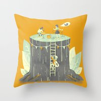 outdoor Throw Pillows featuring Outdoor Show by Ann Macarayan