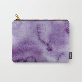 Ultra violet lilac modern hand painted watercolor paint Carry-All Pouch