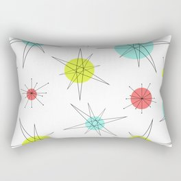 Atomic Age Colorful Planets Rectangular Pillow